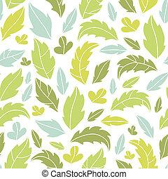 modello, foglie, silhouette, fondo, seamless