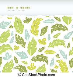 modello, foglie, strappato, seamless, silhouette, fondo, orizzontale