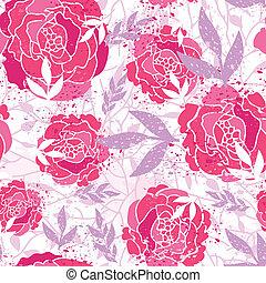 modello, fondo, rose, dipinto, seamless, magico