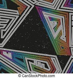 modello, geometrico, seamless, spazio