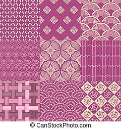 modello, giapponese, seamless, maglia