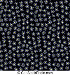 modello, grigio, floreale, piccolo, ditsy, fiori