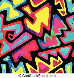 modello, grunge, effetto, colorato, psichedelico, seamless