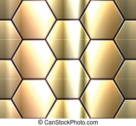 modello, hexahedron, seamless, metallico, enigmi, vettore