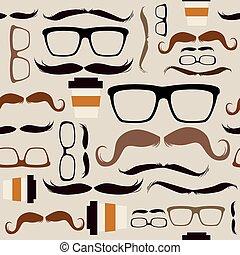 modello, hipster, seamless, fondo