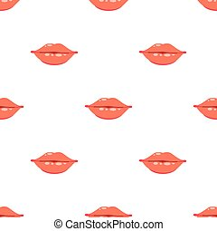modello, labbra, seamless