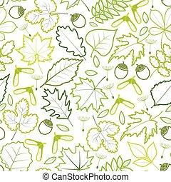 modello, leaves., seamless, primavera