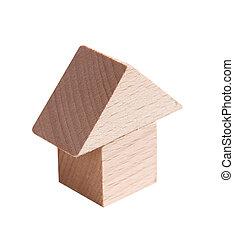 modello legno, di, casa
