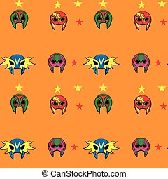 modello, lottatore, maschera, messicano