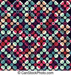 modello, luminoso, cerchio, mosaico, seamless