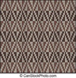 modello, maglione, 2, collegamento, marrone
