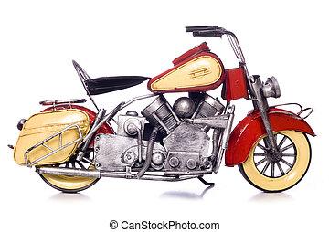 modello, metallo, motocicletta, disinserimento