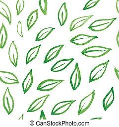 modello, mette foglie