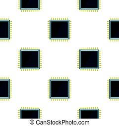 modello, microchip computer, appartamento