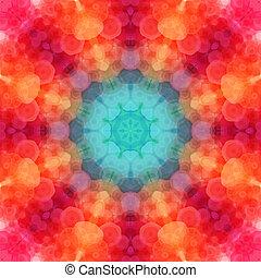 modello, mosaico, retro, esagonale, fatto, fondo., shapes., ...