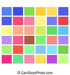 modello, mosaico, squadre, colorito, luce, rettangoli, tessellation, colorato