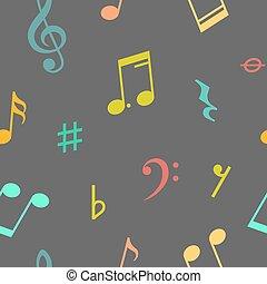 modello, note, musica, seamless