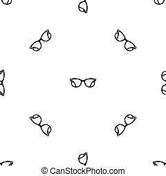 modello, occhiali, nero, seamless