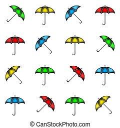 modello, ombrelli, fondo, seamless, colorito
