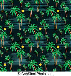 modello, palma, seamless