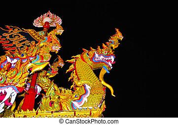 modello, parete, -, thailand., bangkok