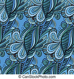 modello, pattern., seamless, flowers., floreale, cartone animato, hand-drawn, infinito