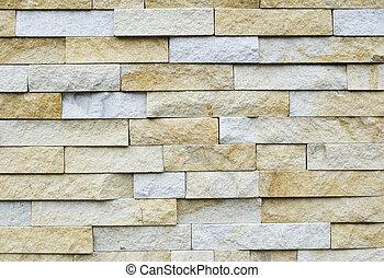 modello, pietra, mattone, affiorato, moderno, parete, bianco