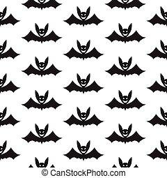 modello, pipistrello, halloween, seamless
