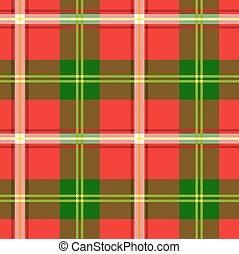 modello, plaid, verde rosso