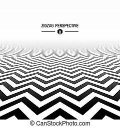 modello, prospettiva, zigzag