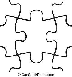 modello, puzzle, jigsaw, seamless