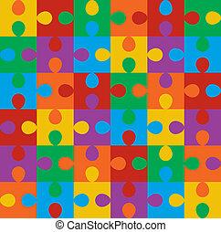 modello, puzzle, seamless