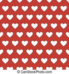modello, rosso, seamless, fondo, cuori