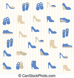 modello, scarpe, seamless