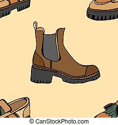modello, scarpe