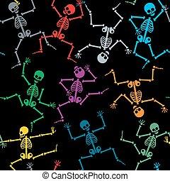 modello, scheletri, seamless
