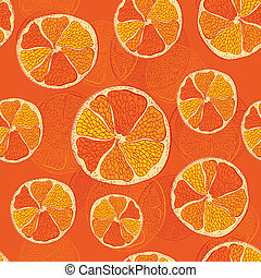 modello, seamless, arance