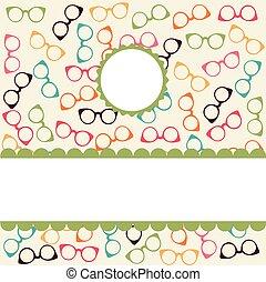 modello, seamless, colorito, occhiali
