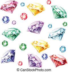modello, seamless, diamanti