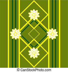 modello, seamless, disegno, floreale, verde, fiori