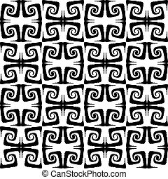 modello, seamless, disegno spirale, monocromatico, movimento