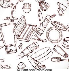 modello, seamless, doodles