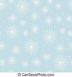 modello, seamless, fiocco di neve