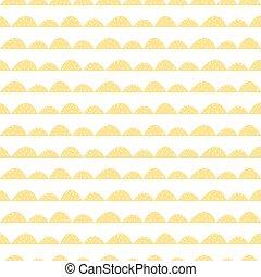 modello, seamless, giallo, scandinavo, disegnato, mano, style.