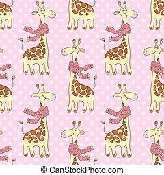 modello, seamless, giraffe