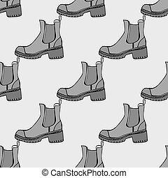 modello, seamless, scarpe