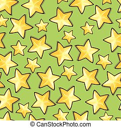 modello, seamless, stelle, cartone animato