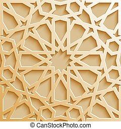 modello, seamless, tradizionale, islamico, disegno, arabo, ...