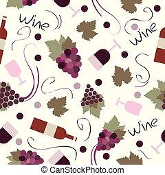 modello, seamless, vino vendemmia