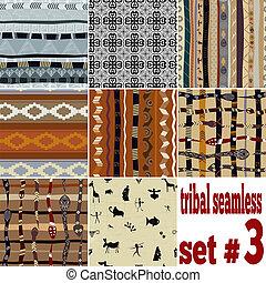 modello, set, seamless, etnico